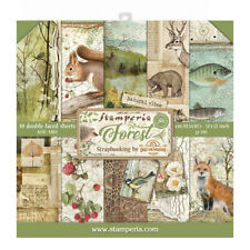 """NEW Stamperia 12"""" x 12"""" Paper Sheets Forest"""