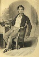 Gabriel Joseph Garraud (1807-1880) Porträt Self-Portrait? Zeichnung Dijon Louvre