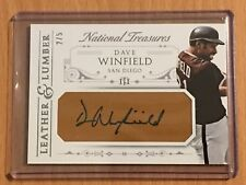 2015 National Treasures San Diego Padres Dave Winfield Leather AUTOGRAPH SSP /5