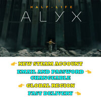 Half-Life: Alyx - New Steam Account - Global Region - Fast Delivery