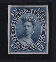 Canada Sc #18TC (1864) 12&1/2c blue green Victoria Trial Colour Plate Proof