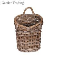 Garden Trading Holkham Utility Basket in Handmade Rattan Laundry Toys Linen