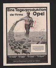 RÜSSELSHEIM, Werbung 1925, Adam Opel AG Fahrräder-Motorwagen-Fabrik