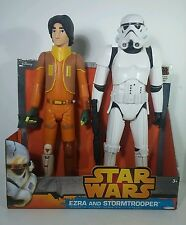 "Jakks Pacific Star Wars Rebels 18"" Ezra & Rebels Stormtrooper Figures Dc Co."