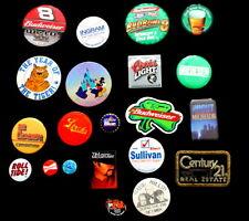 20 Vtg Political Budweiser Coors Light Century 21 Labatt's Pin Button Lot
