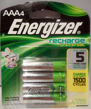 Energizer AAA Qty~4 Recharge 1500 cycle Rechargeable Batteries 1.2v 500mAh New