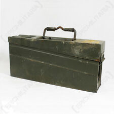 Original GERMAN MG3 AMMO TIN Metal Ammunition Can Storage Box WW2 Army MG42 MG34