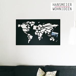 Hansmeier   Weltkarte-Wanddeko aus Metall   115 x 68 cm   Worldmap