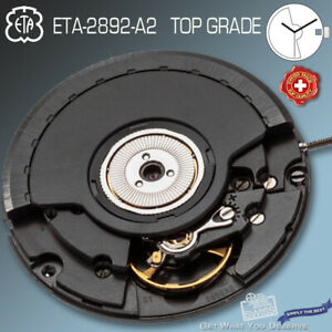 MOVEMENT AUTOMATIC ETA 2892-A2, TOP GRADE BLACK - BLACK DATE