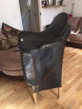 17 Inch Dark Brown Barnsby Dressage Saddle Medium Width Cut Back Pommel