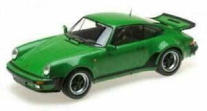 PORSCHE 930 911 3.0 TURBO - 1977 greenmet.  Minichamps 1:12 - 125066102   RAR