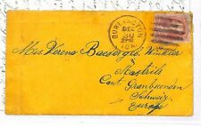 GG92 1879 USA Burlington Switzerland Cover Letter {samwells-covers}PTS