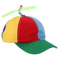 Adjustable Propeller Beanie Ball Cap Hat Multi-Color Clown Costume Accessor E4Q0