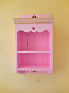 Wall Cabinet  pink hand painted 52x27x13 cm