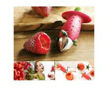 STRAWBERRY CORE REMOVE REMOVER TOMATO KITCHEN FRUIT TOOL GADGET CORER UK
