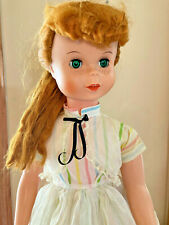 """Uneeda Vtg 1950s Playpal Freckles Doll 32"""" Red Hair Green Eyes + Dresses"""
