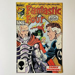 Fantastic Four #273 DIRECT ED KEY 1st Full Appearance Nathaniel Richards! KANG
