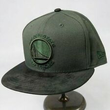 New era mens 100%authentic fitted hat 59fifty 7-1/2 golden state warriors green
