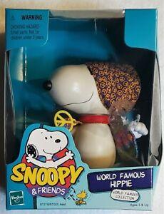 "SNOOPY & FRIENDS WORLD FAMOUS HIPPIE Poseable Figure 4"" Hasbro Peanuts SEALED"