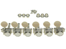 Vintage Style Locking  Guitar Tuners Pegs for Strat/Tele  Nickel w/Ivory Button