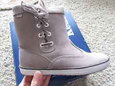 NEW KEDS SUNNYSIDE LEATHER ANKLE BOOTS WOMENS 6.5 GRYTAN SUEDE SHEARLING WH45119