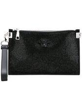 Versace Black Strass Crystal Palazzo Medusa Bag Clutch Pouch