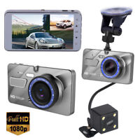 New Dual Lens 4'' HD 1080P Vehicle Car Dash Cam Rear Video Camera Recorder DVR K