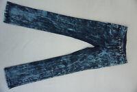 SPARKS Damen Jeans slim stretch Hose 28/34 W28 L34 stonewash acid blau NEU #CX2