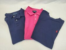 CS LOT OF 3 Boy's L Polo Ralph Lauren Pique Cotton Short Sleeve Polo & T-Shirts