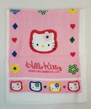 Vtg 1997 Sanrio HELLO KITTY Pink ALL DECKED IN CHECKS 13x31 Hand Towel Rare NEW
