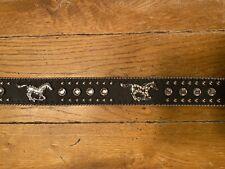 Nocona Black and Silver Wing Cross Belt N4429801 SALE