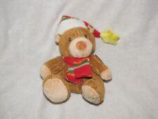 Kids Ii Jingles Stuffed Plush Holiday Xmas Teddy Bear Musical Dashing Thru Snow