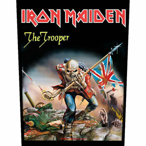 """IRON MAIDEN - """"THE TROOPER"""" - LARGE SIZE - SEW ON BACK PATCH - CHEAPEST ON EBAY"""