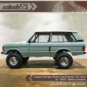 """1/10 Scale Classic Range Rover Hard ABS Body ( 313 mm WB ) """" FREE"""" Metal emblem"""