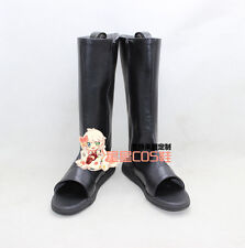 NARUTO Uchiha Sasuke Black Halloween Cosplay Shoes Boots X002