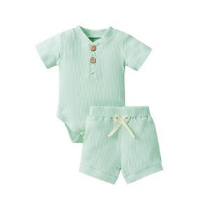 New Newborn Baby Boys Gentleman Romper Tops+Pants Outfits Clothes Set 5 Colors