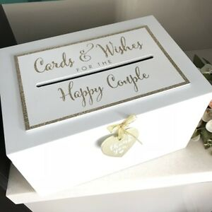 Large Wooden Wedding Day Card Box