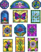12 large stickers scrapbooking crafts flowers butterfly