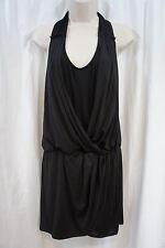 Nine West Dress Sz 6 Black Rayon Underlayer Mini Cocktail Blouson Jersey Dress