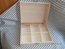 Plain Wooden Tea Box for Decoupage