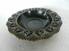 Old Hand Carved & Painted Wooden Fruit Bowl / Tray / Platter