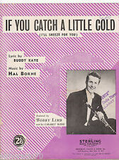 BOBBY LIMB If You Catch A Little Cold SHEET MUSIC Australia