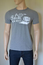 NUOVO ABERCROMBIE & FITCH Baxter Mountain St. PATTY'S Paddy Grigio TEE T-SHIRT M
