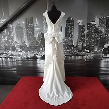Abito da designer con TRENO (Avorio-Taglia 12) Matrimonio, da Spiaggia Matrimonio, Prom Ball, ecc.