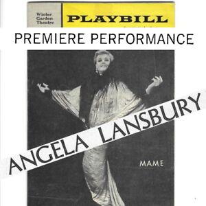 1966 Mame OPENING NIGHT Broadway Playbill Angela Lansbury Beatrice Arthur