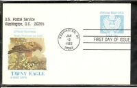 US SC # UZ2 Official Mail, Great Seal FDC. Fleetwood Cachet.