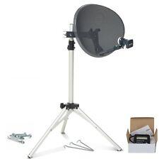 60cm dish quad LNB & tripod + Satellite Finder portable camping caravan For Sky