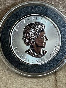 2016 1 oz Platinum Canadian Maple Leaf Coin $50 .9995 Fine BU