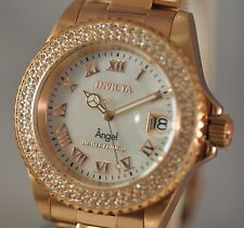 New Ladies Invicta 21208 Angel Limited Cruise Swiss White MOP Dial Rose Watch