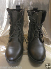 NEW  Leather/Sued Lace Up Boots, Sheep fur inside. Size 6
